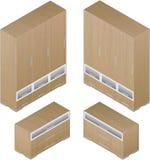 Grande armário de madeira do estilo moderno Imagem de Stock Royalty Free
