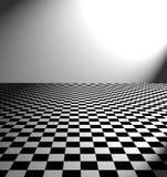 Grande assoalho preto e branco do verificador Fotografia de Stock Royalty Free