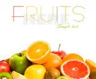 Grande assortimento della frutta Immagini Stock