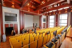 Grande auditorium dell'istituto universitario di Zhejiang Buddha, adobe rgb Immagine Stock Libera da Diritti