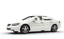 Grande automobile bianca Fotografia Stock