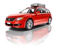 Grande automobile rossa Fotografie Stock Libere da Diritti