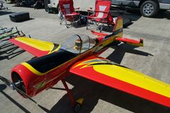 Grande avião de controle remoto Fotografia de Stock Royalty Free