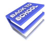 Grande azul grande grande do livro de escola 3d Ilustração Stock