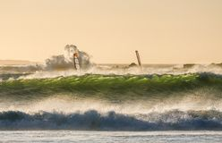 Grande baia facente windsurf immagini stock libere da diritti