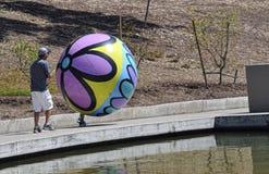 Grande balão pintado à mão Fotos de Stock