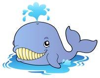 Grande baleine de dessin animé Image libre de droits