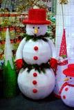 Grande bambola del pupazzo di neve Fotografie Stock