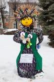 Grande bambola per Maslenitsa Immagine Stock Libera da Diritti