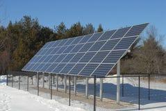 Grande banco do painel solar fotos de stock royalty free