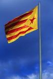 Bandiera catalana di independentist Fotografie Stock Libere da Diritti