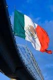 Grande bandierina messicana 2 Immagini Stock Libere da Diritti