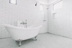 Grande banheiro luxuoso bonito do vintage Imagem de Stock