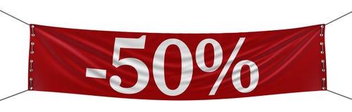 Grande bannière 100% (chemin de coupure inclus) Photos stock