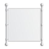 Grande bannière d'isolement sur le fond blanc Photographie stock libre de droits