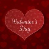 Grande bannière de coeur de jour de valentines avec le modèle Photographie stock libre de droits