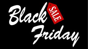 Grande bannière de vente de Black Friday illustration stock