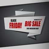 Grande bannière de vente de Black Friday, remise jusqu'à 75% Image libre de droits