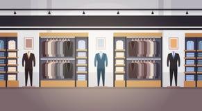 Grande bannière intérieure masculine de centre commercial de vêtements du marché superbe de boutique de mode avec l'espace de cop illustration de vecteur