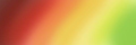 Grande bannière abstraite aux nuances de gradient de jaune et vert rouges Images libres de droits