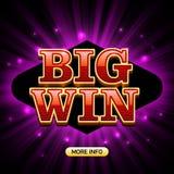 Grande bannière de casino de victoire Images libres de droits