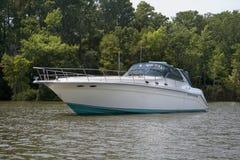 Grande barca di lusso di velocità Fotografia Stock Libera da Diritti