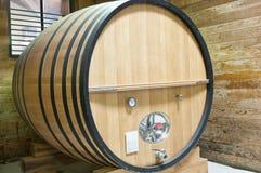 Grande barile di legno del vino Fotografia Stock Libera da Diritti