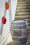 Grande barile di vino Fotografia Stock