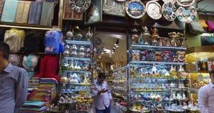Grande bazar a Costantinopoli stock footage