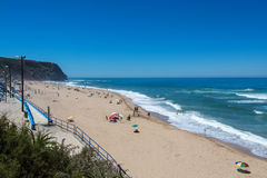 Grande beach in Sintra, Portugal. Royalty Free Stock Photography