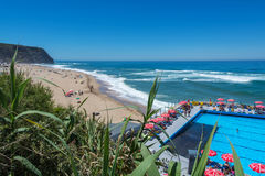 Grande beach in Sintra, Portugal. Stock Photography