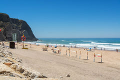 Grande beach in Sintra, Portugal. Royalty Free Stock Photos