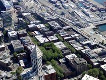 Grande belle vue aérienne de Seattle du centre Image libre de droits