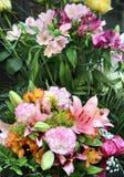 Grande bello mazzo dei fiori Fotografia Stock
