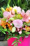 Grande bello mazzo dei fiori Fotografie Stock