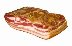 Grande bello pezzo di bacon Fotografia Stock Libera da Diritti