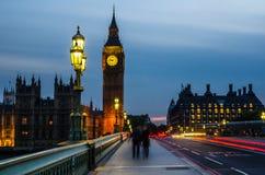 Grande Ben alla notte Fotografia Stock Libera da Diritti