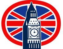 Grande Ben bandierina britannica del Jack del sindacato di Londra Immagini Stock