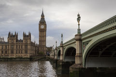 Grande ben e ponticello di Westminster Fotografia Stock Libera da Diritti