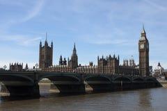 Grande Ben e Westminster a Londra Fotografie Stock