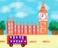 Grande Ben London Abstract Art Painting illustrazione di stock
