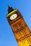 Grande Ben London al crepuscolo Fotografia Stock Libera da Diritti