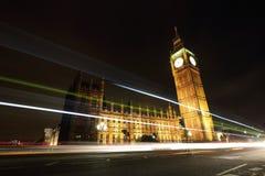 Grande Ben London alla notte Fotografia Stock