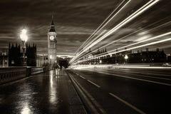 Grande Ben London monocromatico fotografia stock libera da diritti