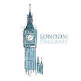 Grande Ben Londra Inghilterra Fotografia Stock