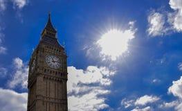 Grande Ben, Londra, Regno Unito Una vista del punto di riferimento popolare di Londra Fotografia Stock Libera da Diritti
