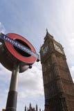 Grande Ben Londra sotterranea Fotografia Stock