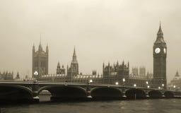 Grande Ben nella bufera di neve Fotografie Stock Libere da Diritti