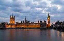Grande Ben Night London Fotografie Stock