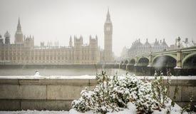 Grande Ben Snow Fotografia Stock